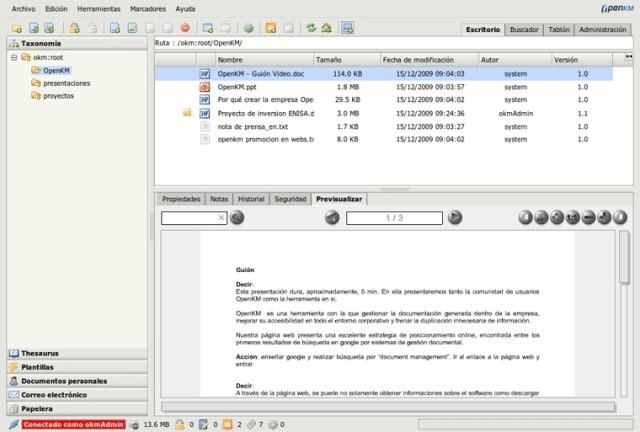 OpenKM document management software Linux